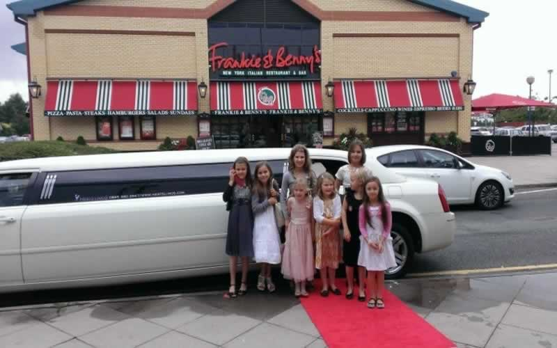 Baby Bentley at Frankie & Benny's Kids Limo Party]