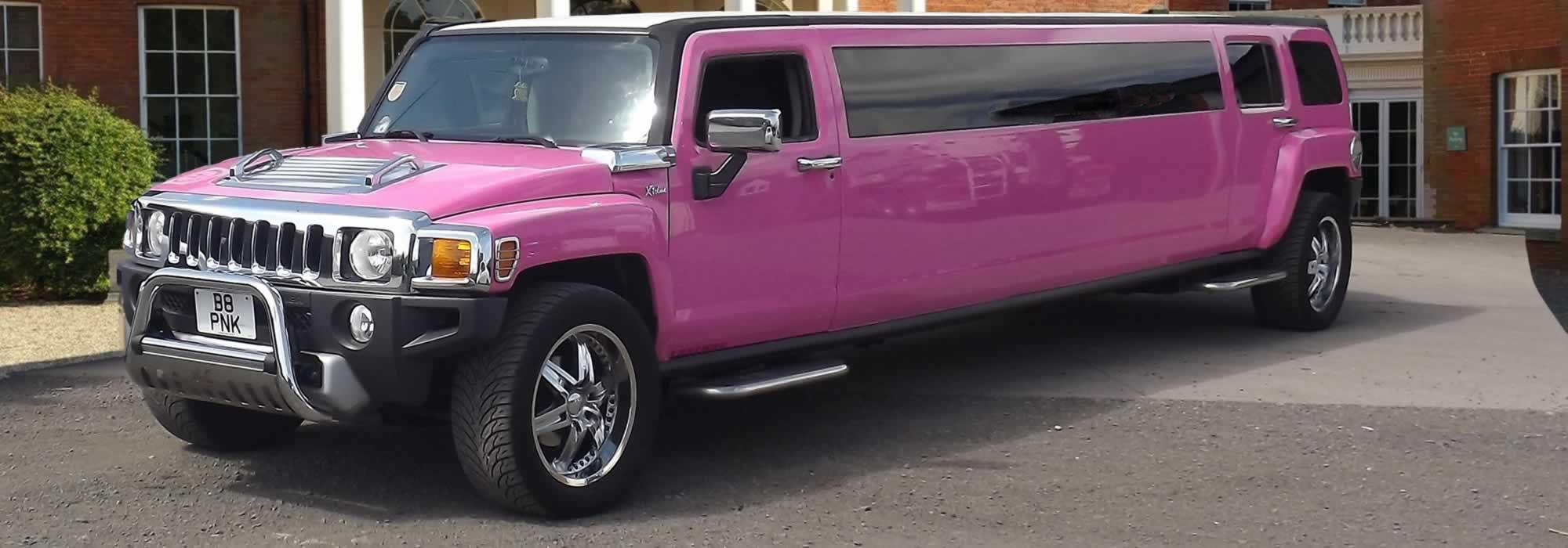 Pink Hummer H3 limo